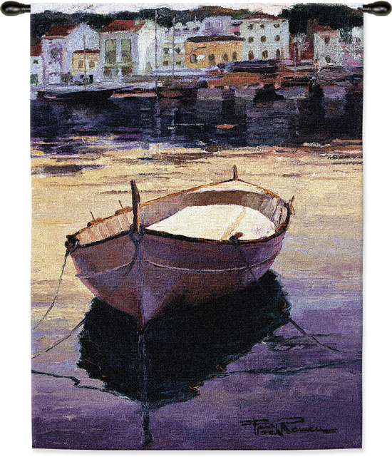 Contraluza Barca Nautical Tapestry Wall Hanging - Boat Picture, 41in X 53in