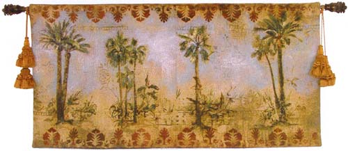Curacao I Tapestry Wall Hanging - Tropical Picture, 53in X 27in