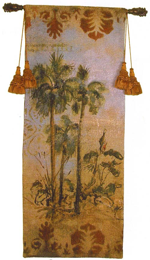 Curacao II Tapestry Wall Hanging - Tropical Picture, 21in X 53in