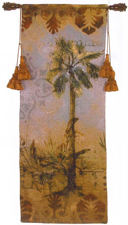 Curacao III Tapestry Wall Hanging - Tropical Picture, 21in X 53in