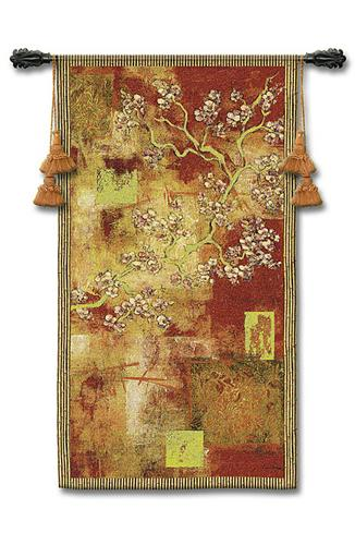 Damask Blossom Modern Tapestry Wall Hanging - Ornamental Design With Flowers, 30in X 53in