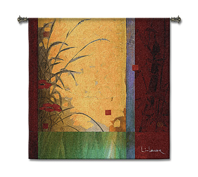 Dancing In The Wind Li-Leger Modern Tapestry Fine Art Picture, 53in X 53in