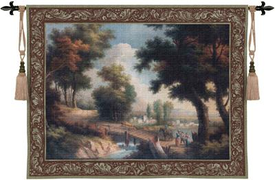 Early Autumn Crossing Landscape Tapestry Wall Hanging - Park View, 53in X 40in