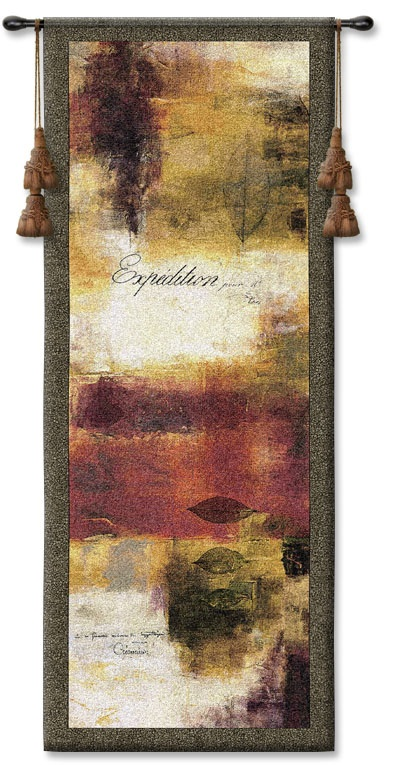 Expedition Contemporary Tapestry Fine Art Picture, 21in X 53in