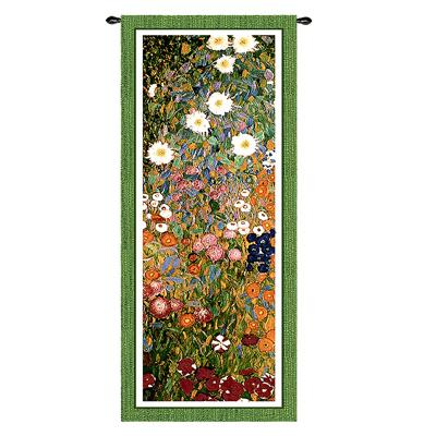 Flower Guard Tapestry Wall Hanging - Modern Floral Design, 52in X 20in