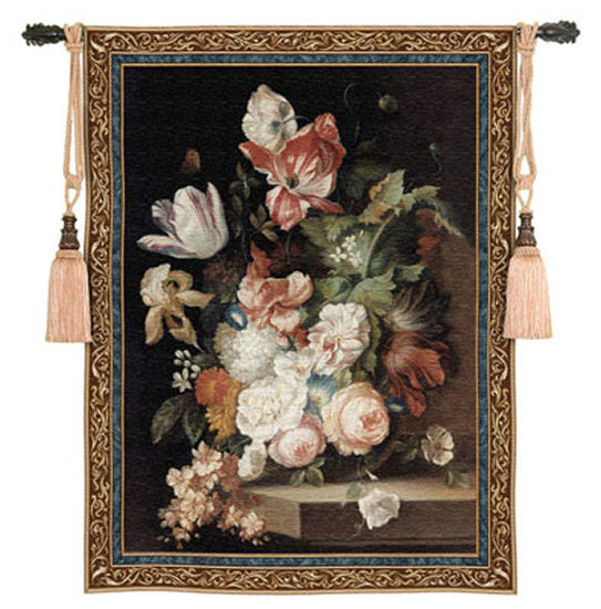 Flowers Of Grace Floral Tapestry - Flowers In Vase Picture, 43in X 53in