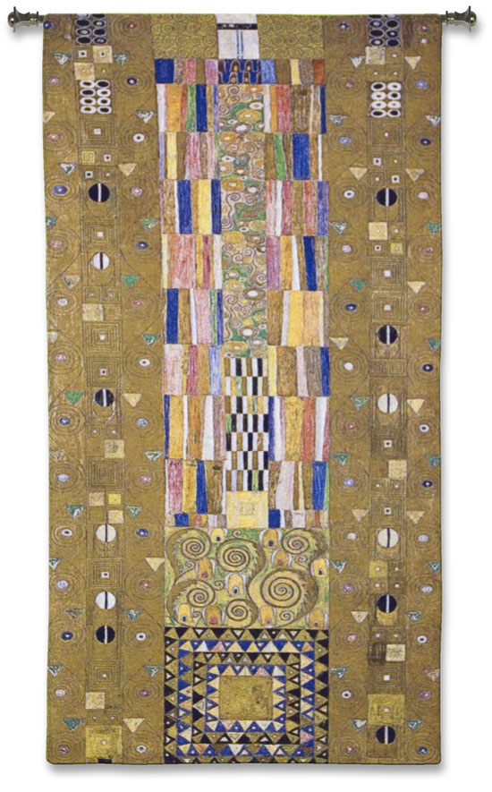 Fregio Stoclet Wall Tapestry - Abstract Design By Gustav Klimt, 52in X 28in