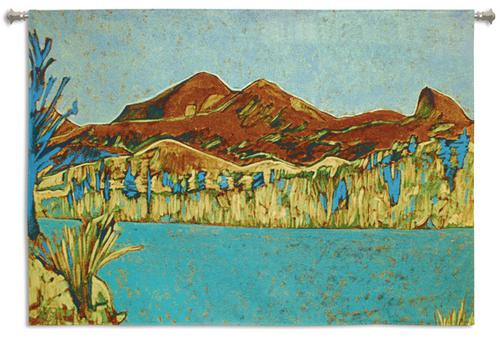 Front Range Modern Art Tapestry Wall Hanging, 53in X 37in