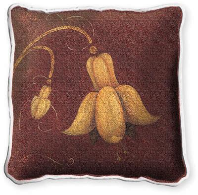 Fuchsia Fresco Modern Tapestry Cushion - Fruit Stillife, 17in x 17in