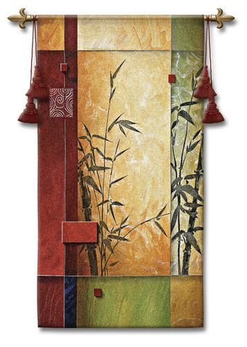 Garden Dance I Modern Tapestry Wall Hanging - Abstract Design, 26in X 53in