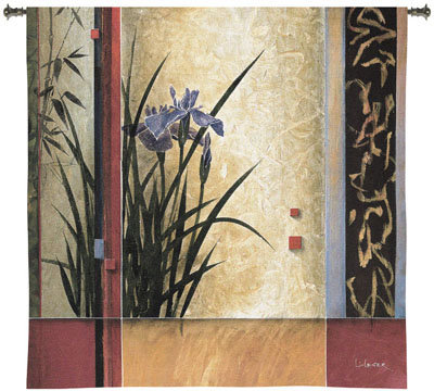 Garden Gateway Contemporary Tapestry Fine Art Picture, 53in X 53in