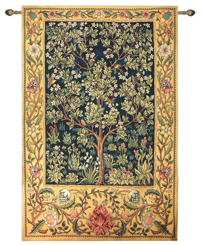 Garden Of Delight Bird Tapestry Wall Hanging - Birds On The Tree Picture, 56in X 80in