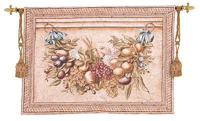 Garland Fresco I Ornamental Tapestry Wall Hanging - Floral Design, 52in X 35in