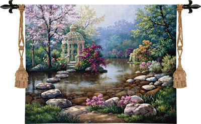 Gazebo Tapestry Wall Hanging, 53in X 40in