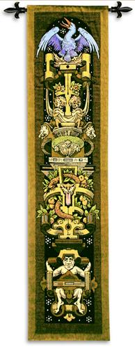 Gothic Panel Ornamental Tapestry Wall Hanging, 16in X 59in