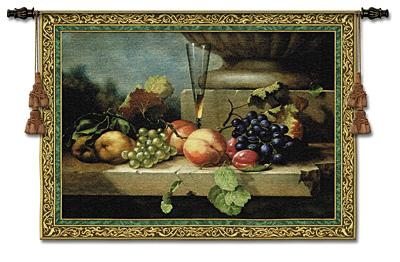 Grapes Of Venice Still Life Wall Tapestry - Fruits Picture, 74in X 52in
