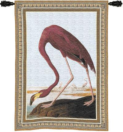 Greater Flamingo Bird Wall Tapestry, 27in X 36in