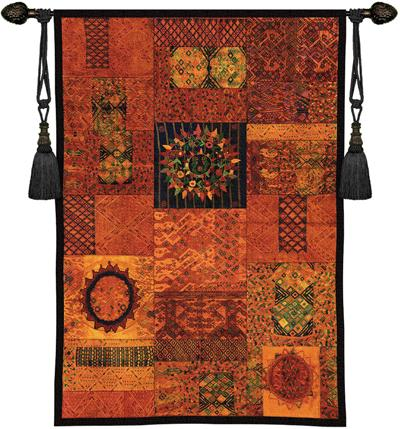 Guatemala Ethnic Tapestry Wall Hanging - South American Motif, 37in X 53in