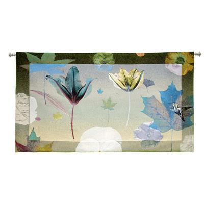 Harbinger Contemporary Tapestry Wall Hanging - Botanical Design In Bright Colors, 53in X 30in