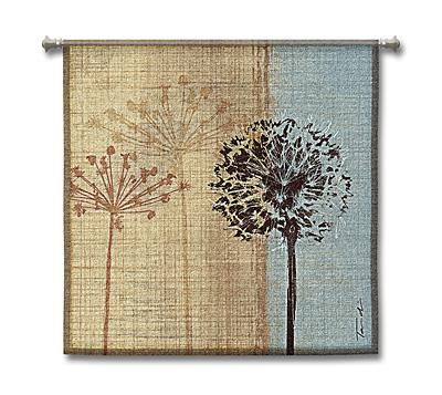 In The Breeze Botanical Tapestry Wall Hanging - Abstract Design, 35in X 35in