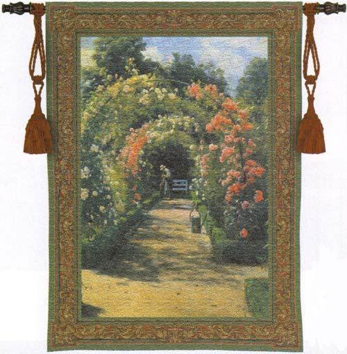 In The Garden Tapestry Wall Hanging, 40in X 53in