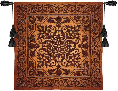 Iron Work Ornamental Tapestry Wall Hanging, 53in X 53in