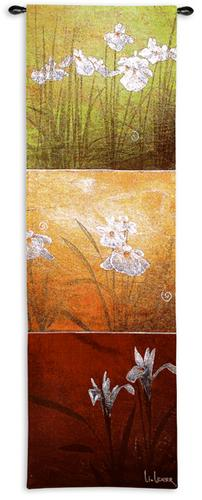 Karma Botanical Tapestry Wall Hanging - Modern Abstract Design, 18in X 53in