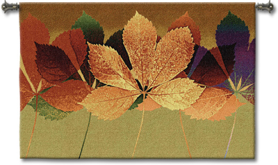 Leaf Dance II Contemporary Tapestry Fine Art Picture, 53in X 42in