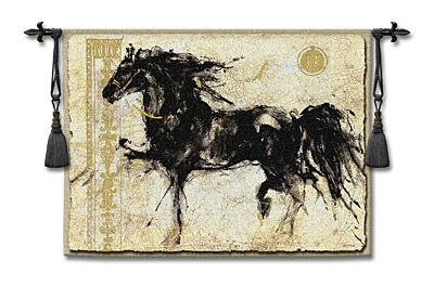 Lepa Zena Horse Tapestry Wall Hanging, 53in X 45in