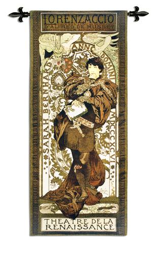 Lorenzaccio Medieval Tapestry Wall Hanging, 26in X 60in
