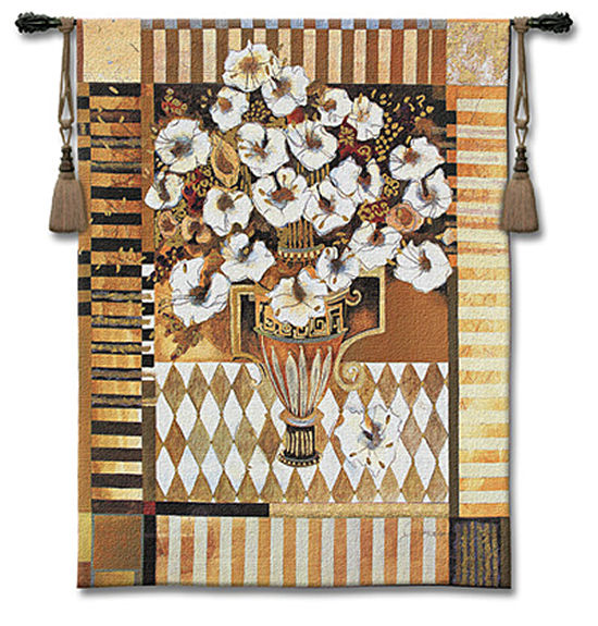 Love Letters Tapestry Wall Hanging - Floral Picture, 40in X 53in