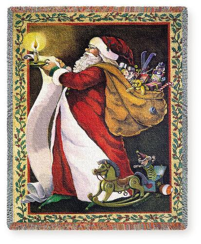 Christmas decor ideas tapestry wall hangings throws