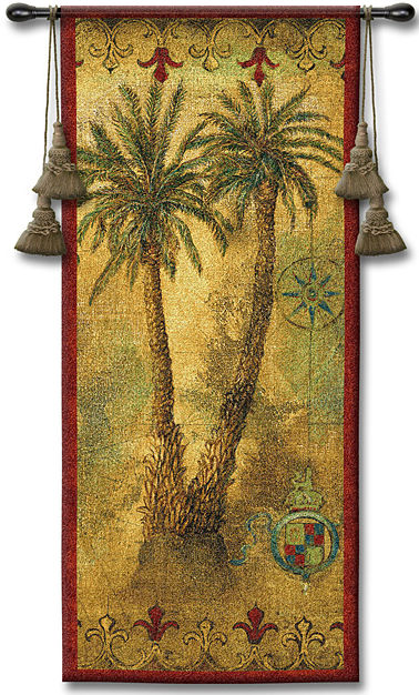Masaola Panel I Tapestry Wall Hanging - Tropical Picture, 22in X 53in