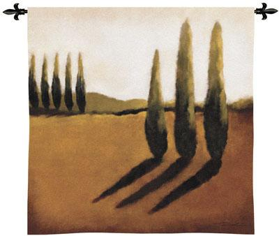 Memories Of Tuscany I Contemporary Tapestry Fine Art Picture, 53in X 53in