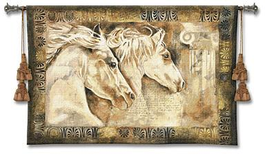 Messengers Of Spirit Horse Tapestry Wall Hanging - Animal Picture, 53in X 36in