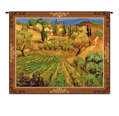 Mount Ventoux Landscape Wall Tapestry - Countryside Picture, 53in X 64in