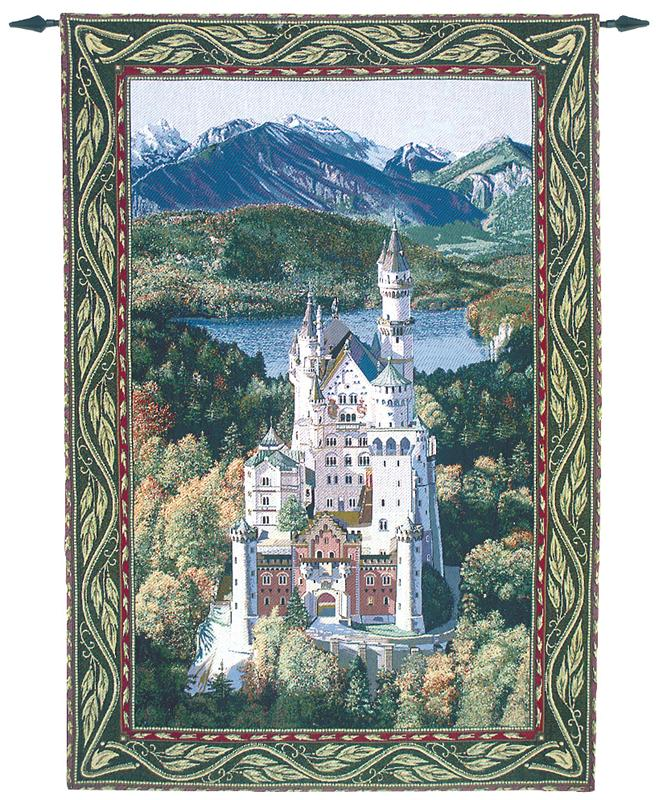 Neuschwanstein Castle Large Tapestry Wall Hanging, 56in X 80in