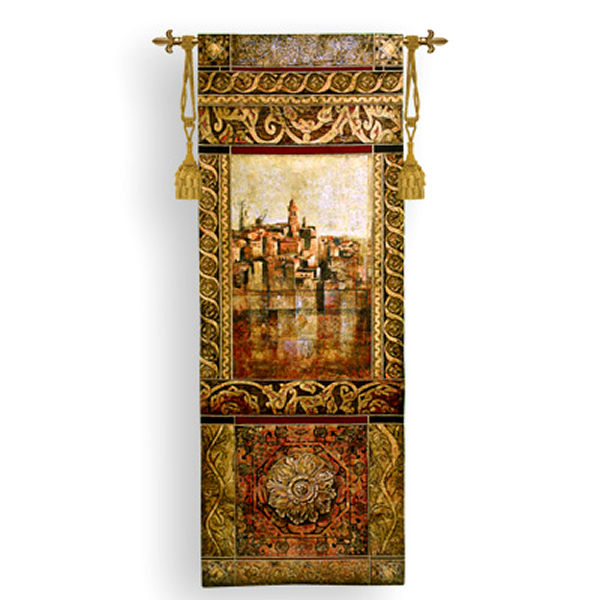 New Enchantement I Tapestry Wall Hanging - Castle Picture Picture, 25in X 69in