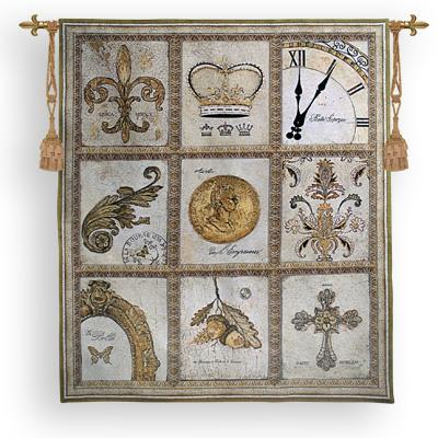 Nobility Ornamental Wall Tapestry - Medieval Collage, 53in X 60in