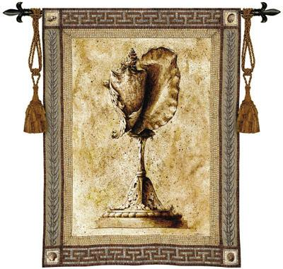 Ornamentum Stromb Gigas Ornamental Wall Tapestry - Shell Picture, 42in X 53in