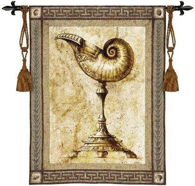Ornamentum Umblic Naut Ornamental Wall Tapestry - Shell Picture, 42in X 53in