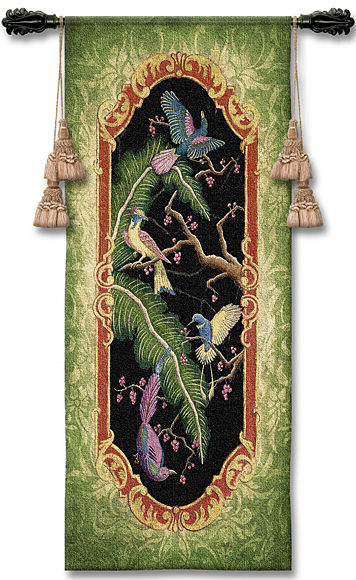 Paradise I Tapestry Wall Hanging - Tropical Picture, 24in X 53in
