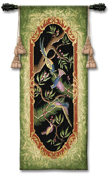 Paradise II Tapestry Wall Hanging - Tropical Picture, 24in X 53in