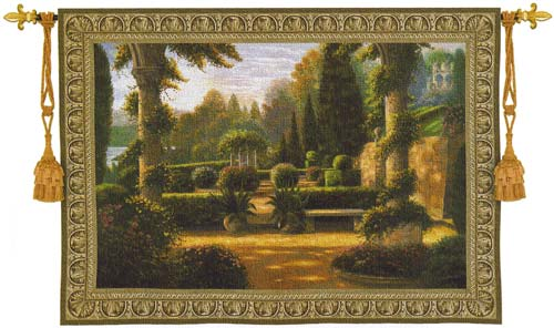Parterre De La Vierge Wall Tapestry - Beautiful Garden Picture, 76in X 53in