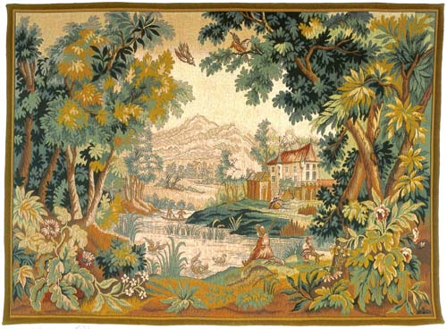 Paysage Du Lauragais Classic Landscape Wall Tapestry - Pastoral Scene, 36in X 54in