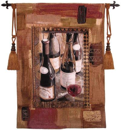 Perf Vintage I Wine Still Life Wall Tapestry, 37in X 53in