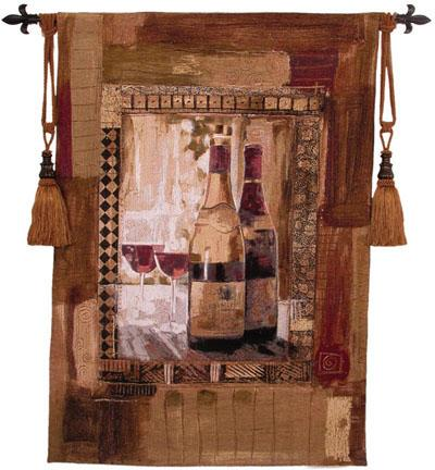 Perf Vintage II Wine Still Life Wall Tapestry, 37in X 53in