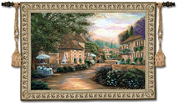 Plentitude De Charme Tapestry Wall Hanging - Eropean Village, 75in X 53in