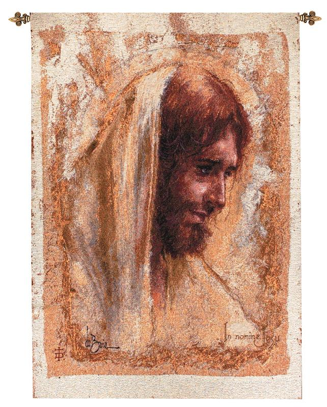 Portrait Of Jesus Tapestry Wall Hanging - Religious Picture, 26in X 36in