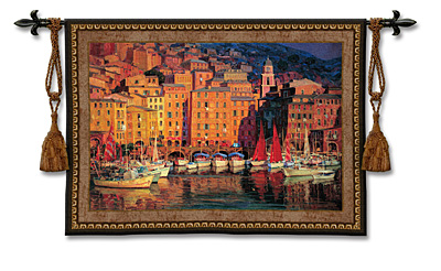 Ruby Sails Tapestry Wall Hanging, 53in X 38in